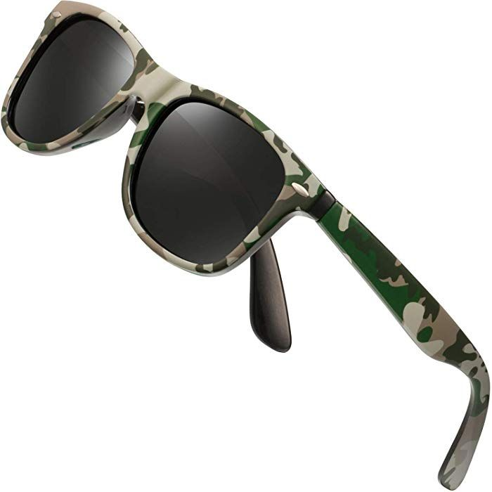 90b39e2e2e3 Amazon.com  Polarized Sunglasses for Men Retro - FEIDU HD Vision Polarized  Sunglasses Mens FD2149 (black-Camouflage)  Clothing