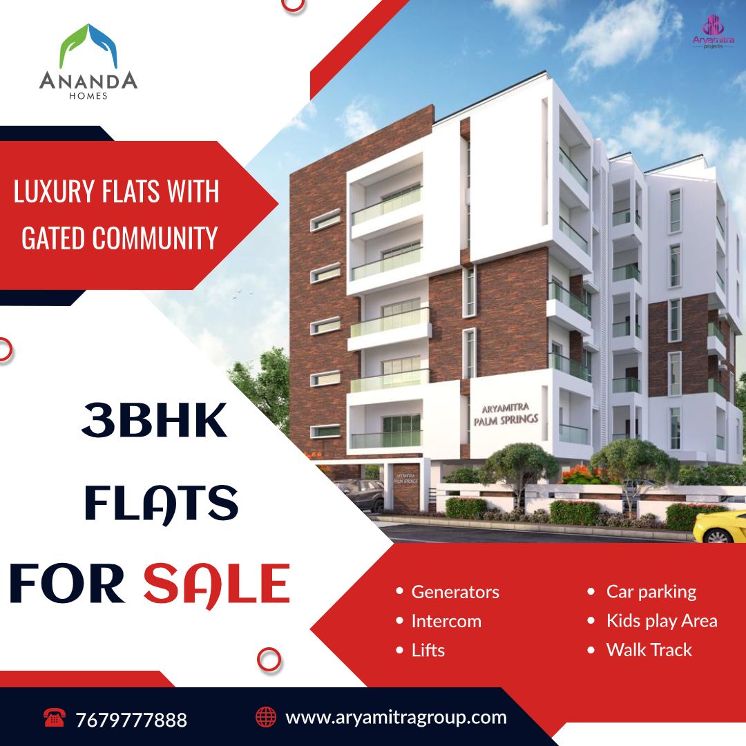 Gated community, Flats for sale