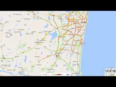 Chennai 24 Hours Live Traffic in Maps - YouTube | chennai