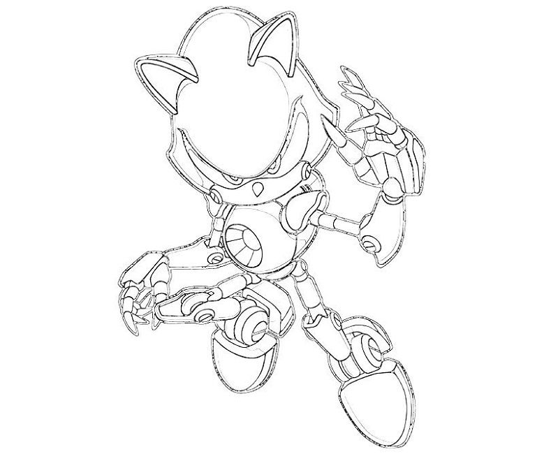 metal sonic coloring pages to print | Drawing reference | Pinterest ...