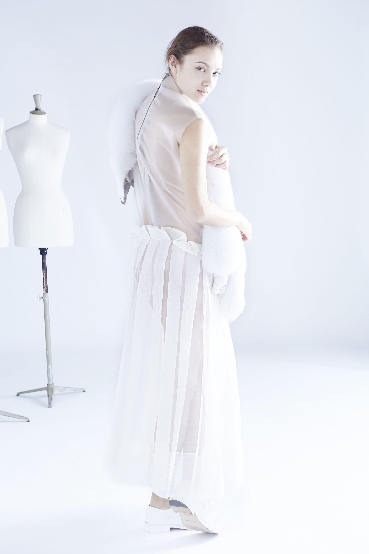 nude back dress