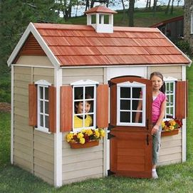 Wooden playhouse $500 | Play houses, Big backyard, Playset ...