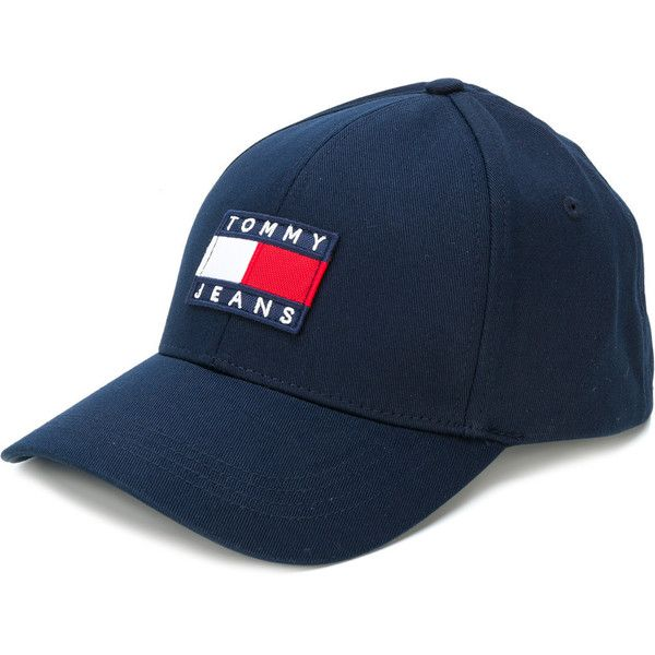 Tommy Jeans logo front cap ( 43) ❤ liked on Polyvore featuring accessories e9ed68607401