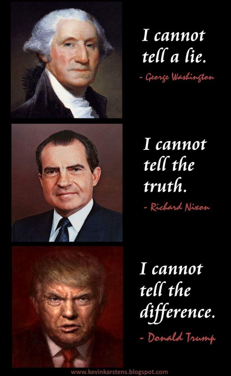 Image result for trump nixon lincoln lie