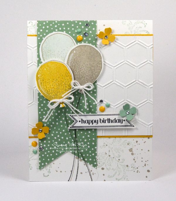 Stampin Up Balloon Celebration card by Kristi @ www.stampingwithkristi.com