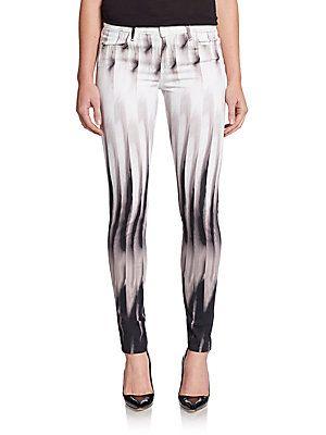 Super-Skinny Mid-Rise Jeans - SaksOff5th