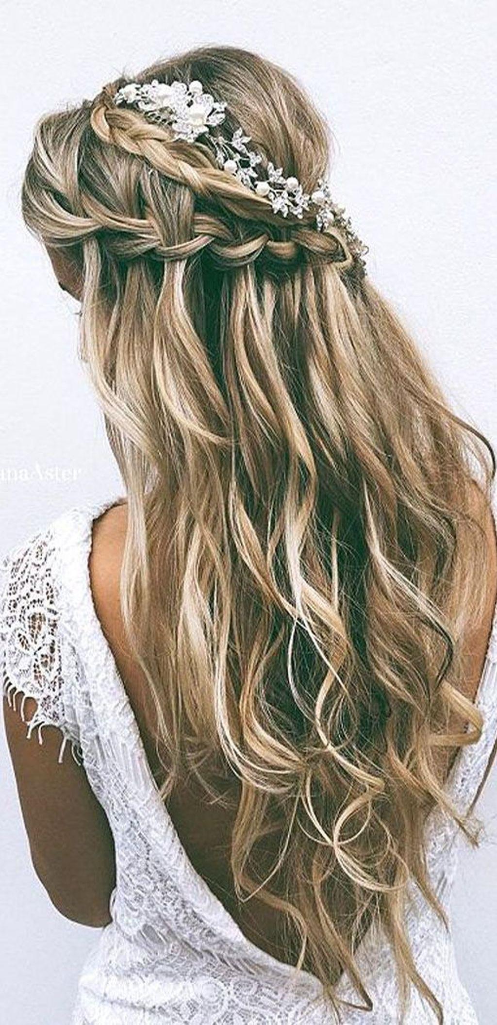 classy wedding hairstyle ideas for long hair women thicker hair