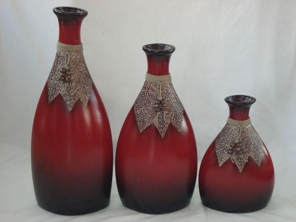 Juego de floreros de ceramica ideas para el hogar pinterest paper - Jarrones rusticos ...