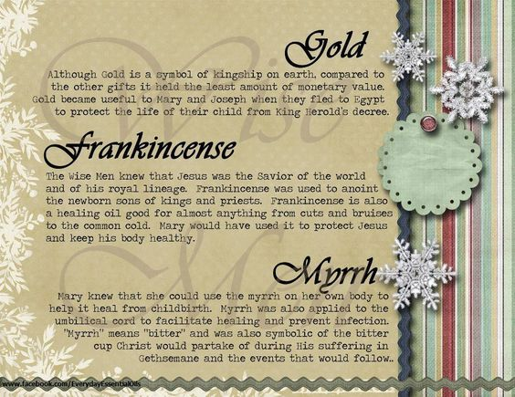 Gold Frankincense And Myrrh Gift Card My Projects Pinterest