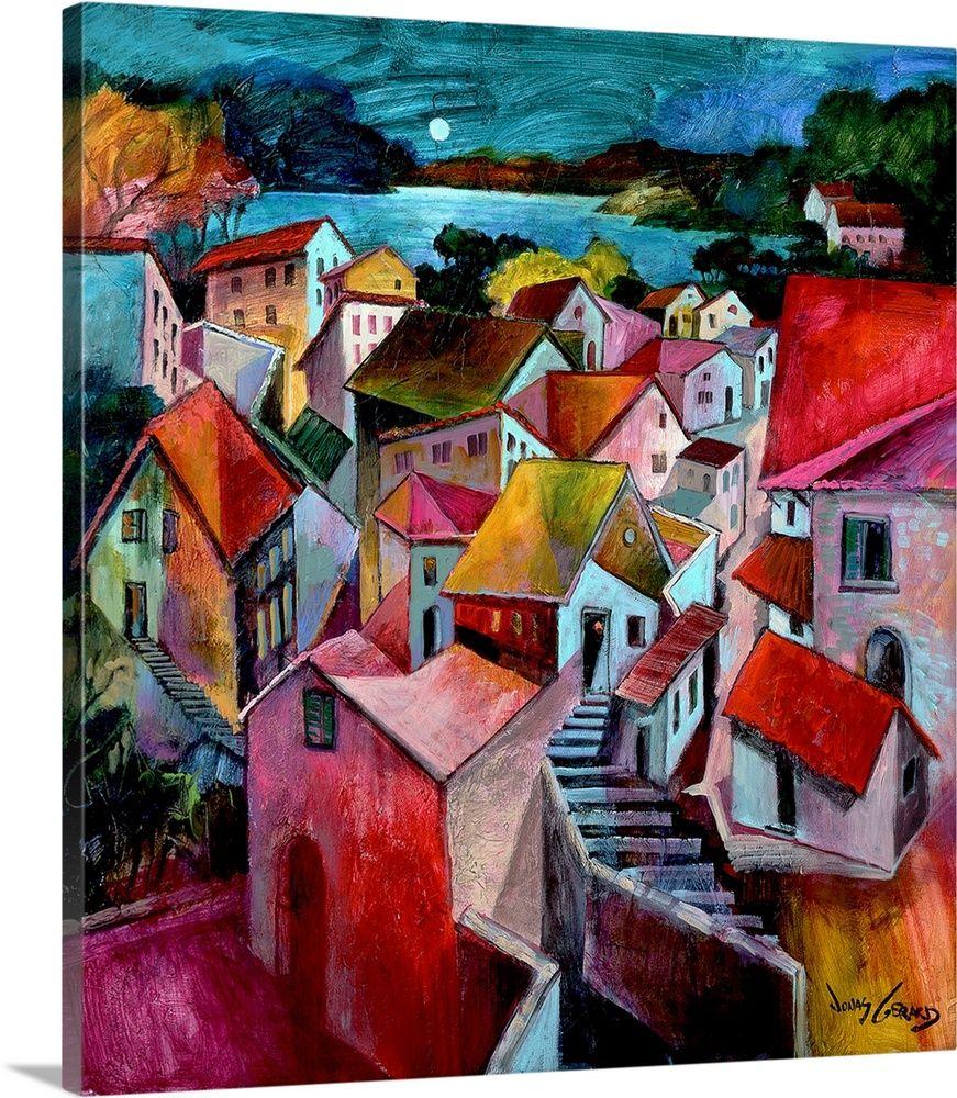 Mediterranean Evenings Wall Art Canvas Prints Framed Prints Wall Peels Big Canvas Art Contemporary Art Canvas Mediterranean Art