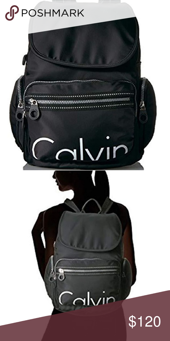 3e2f909cfa1 Calvin Klein Athleisure Nylon Backpack NEW WITH TAGS! Made of nylon Flap  with magnetic snap