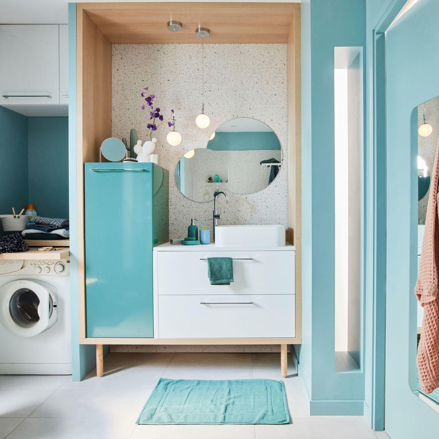 Meuble salle bain bois, design, Ikea, Lapeyre  Meuble salle de