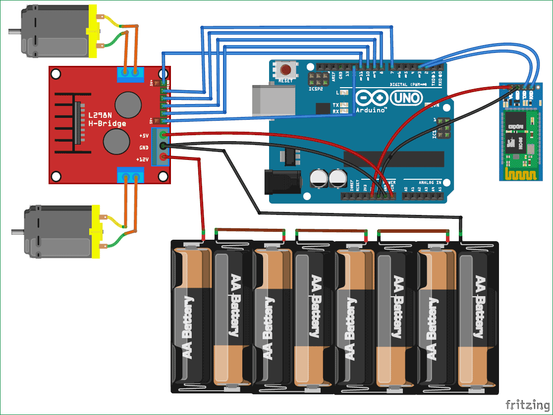 medium resolution of mobile phone controlled robot car using g sensor and arduino