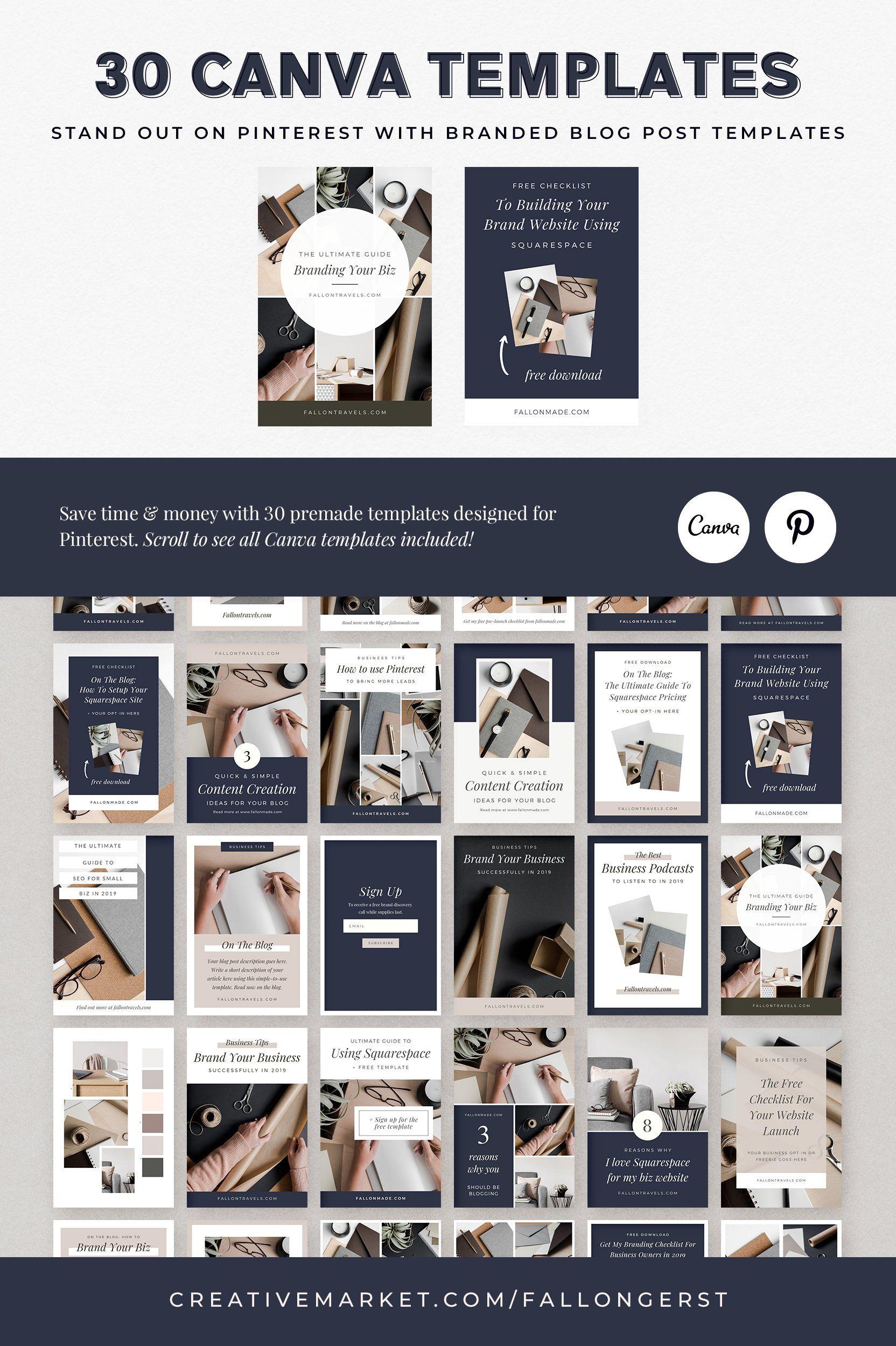 20+ Pinterest Templates for Canva   Pinterest templates, Business ...