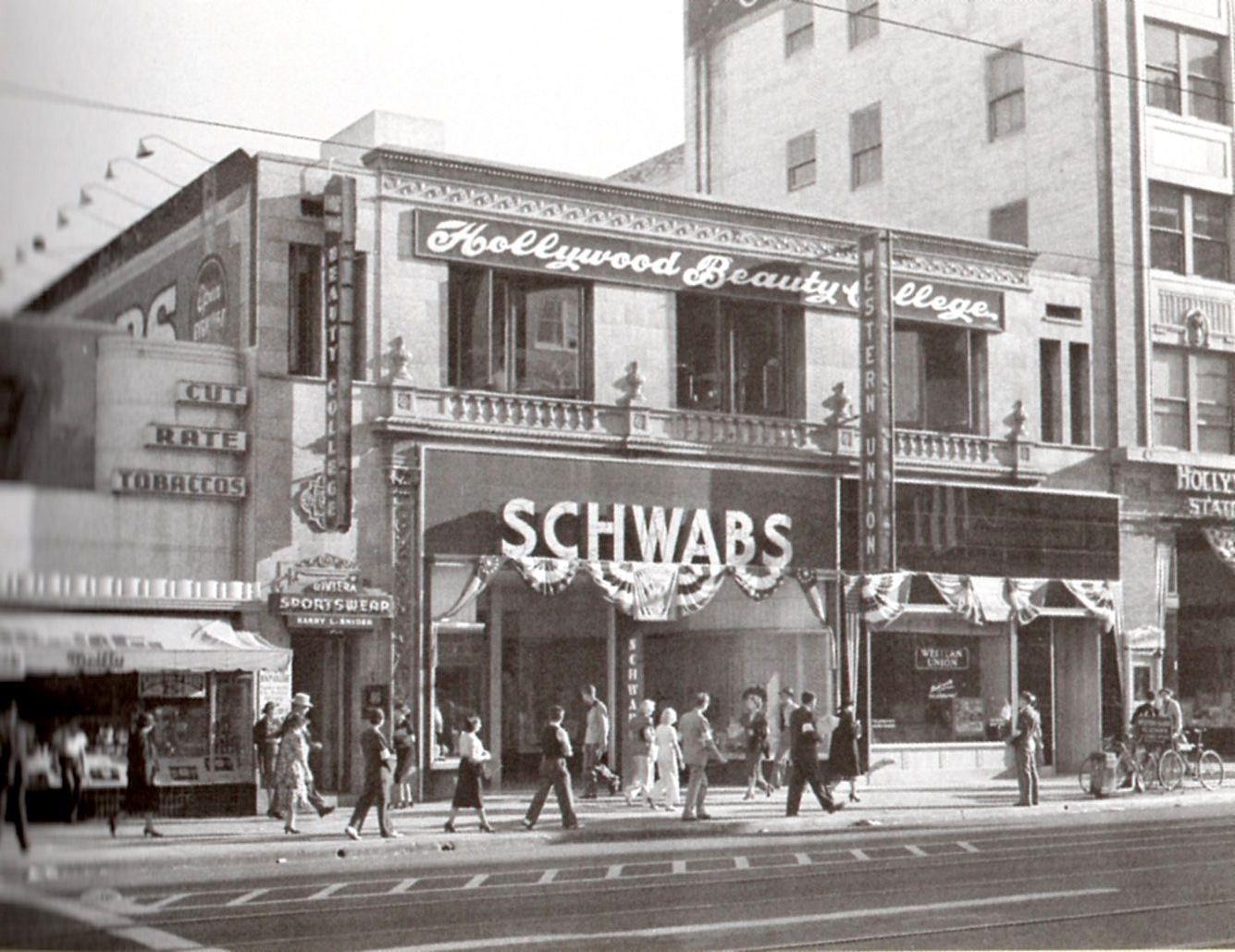 Pin On Hollywood S Schwab S Pharmacy On Sunset Blvd