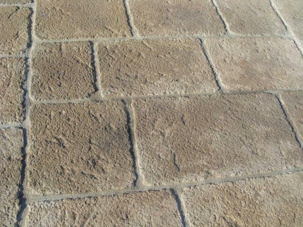 Dallage extérieur in-situ imitation grès ou granite Amenagement - pierre de dallage exterieur