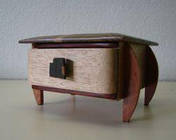 handmade bacote wood jewelry box handmade by artists com