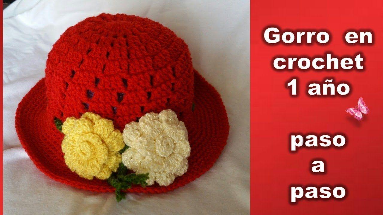 c285f88068f2f GORRO DE 1 AÑO en crochet PASO A PASO