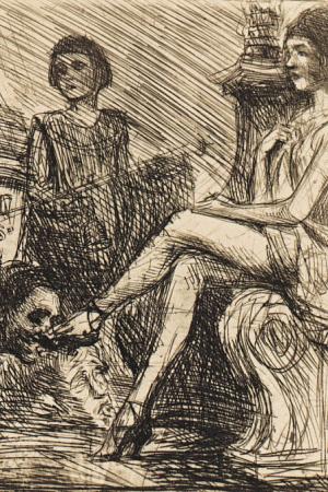 Feast of the idolaters by Bruno Schulz, [ca 1920-1922]. Jagiellońska Biblioteka Cyfrowa, Public Domain