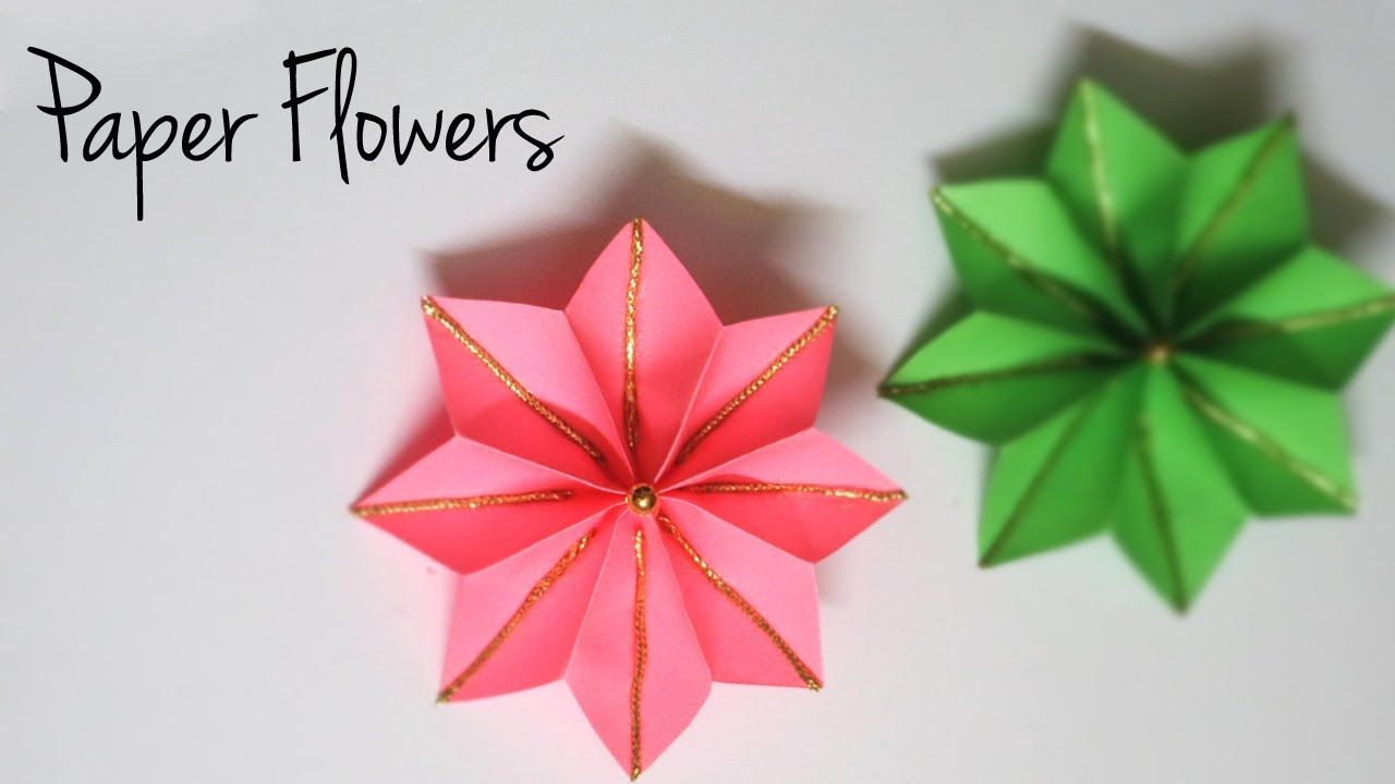 Decorative Paper Flowers Easy Paper Crafts Flower Making