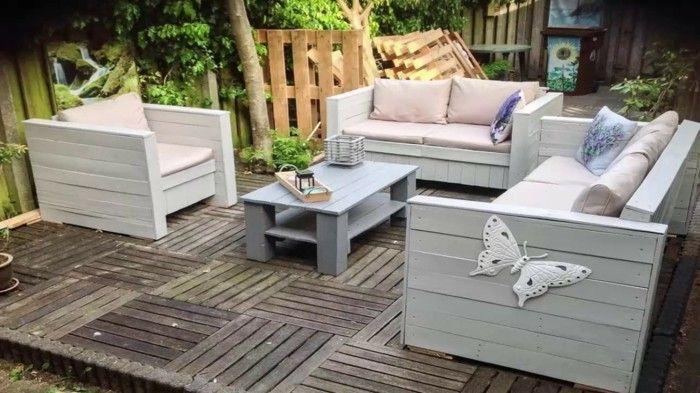 Paletten Gartenmöbel versprechen schlichte Eleganz und nachhaltigen
