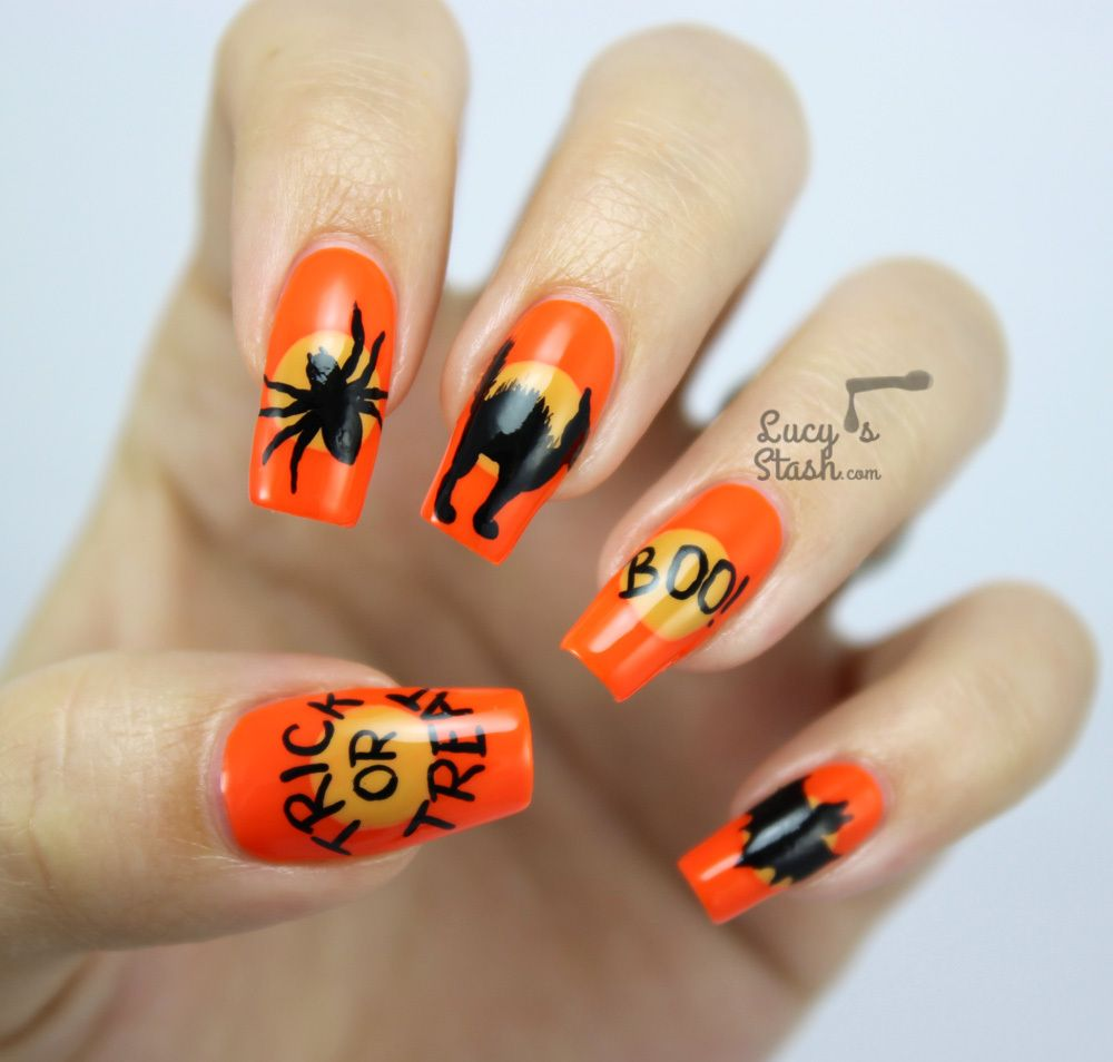 Halloween Mix & Match Nails with SpaRitual http://www.lucysstash.com ...