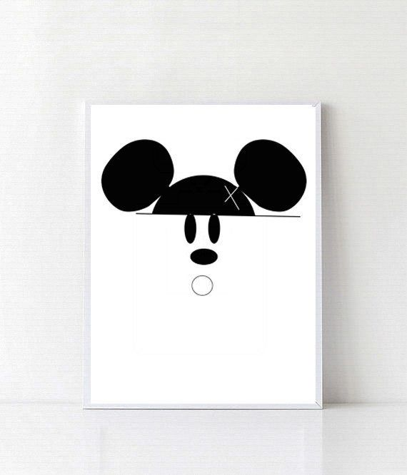 Mickey mouse disney poster wall art disney prints by digitallab