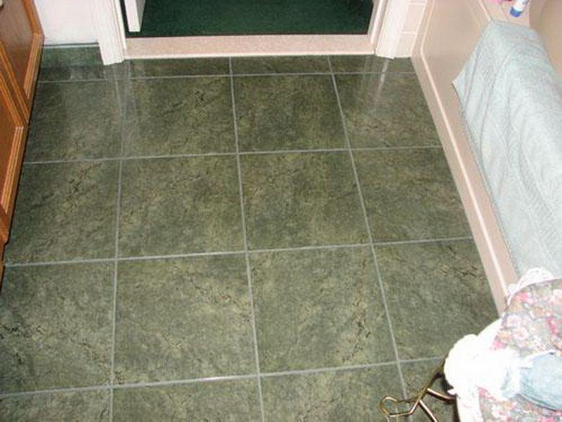 How To Tile A Bathroom Floor Dark Green