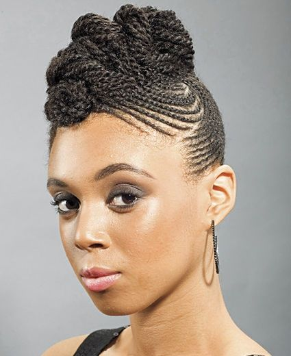Lines Lines Lines Braided Hairstyles Natural Hair Styles African Braids Hairstyles