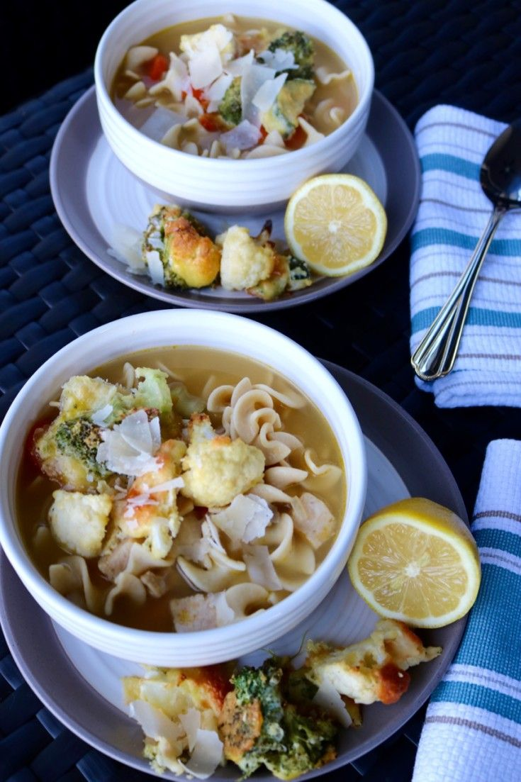 Parmesan Vegetable Croutons And Progresso® Light Chicken Noodle Soup!  #QualityIngredients @Walmart