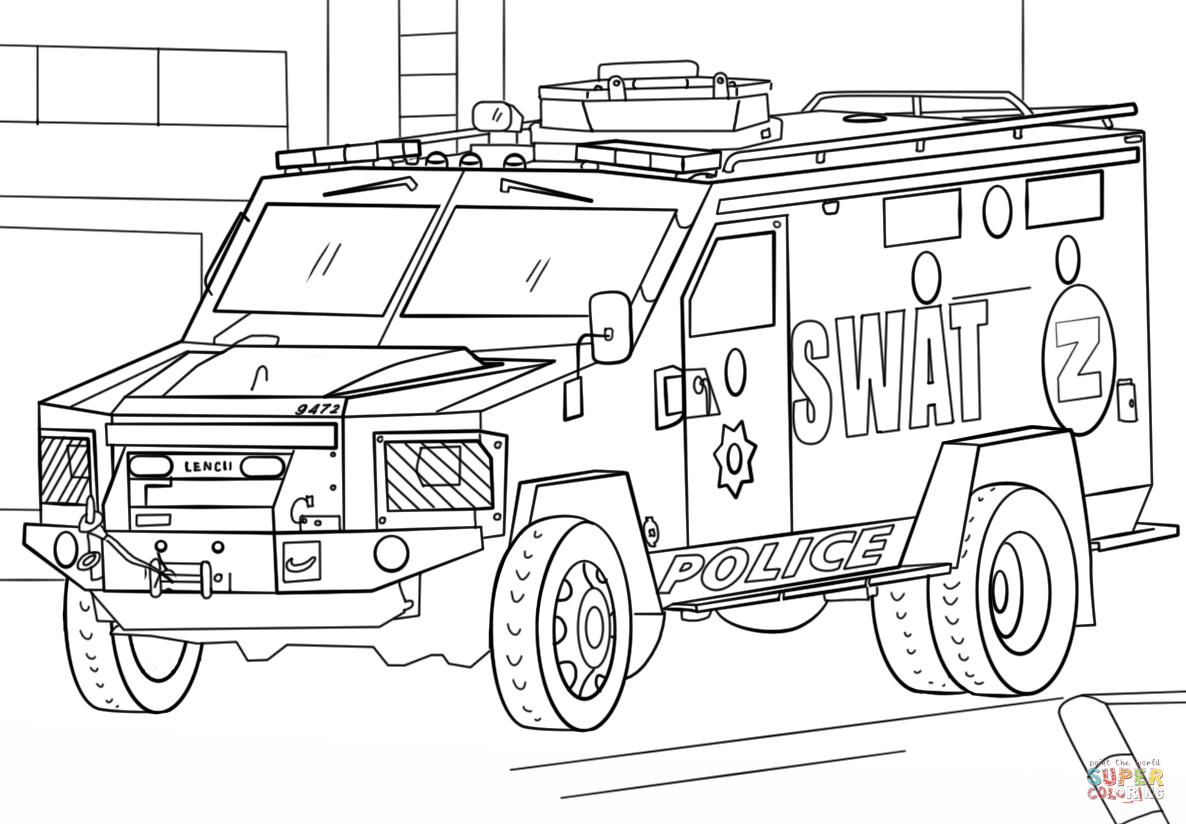 Swat Truck Coloring Page Free Printable Coloring Pages Truck Coloring Pages Cars Coloring Pages Easy Coloring Pages