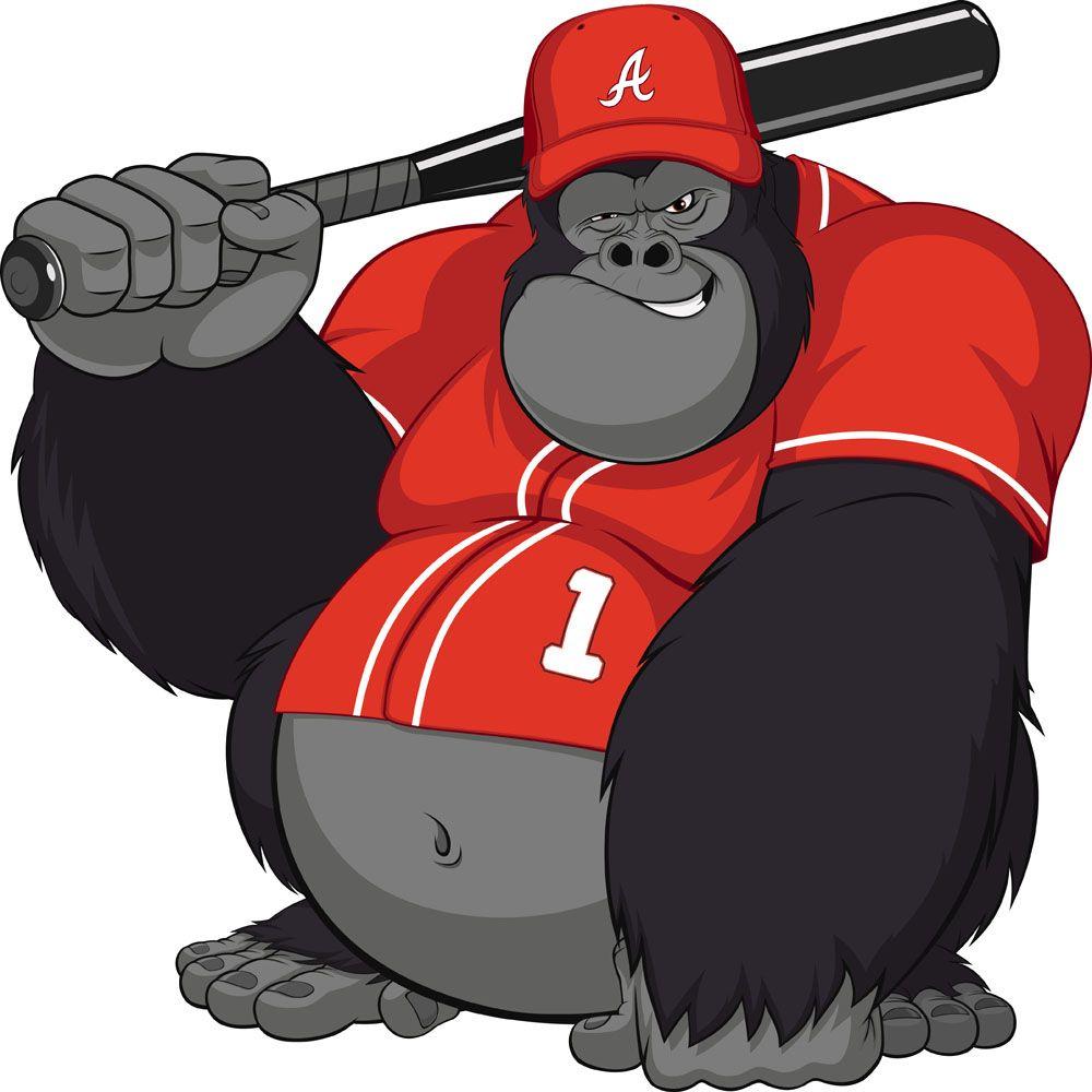 Gorilla With Baseball Bat Google Search Cute Elephant Cartoon Dog Icon Dog Vector