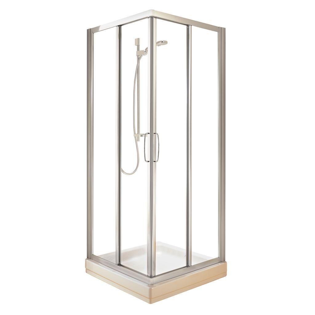 Cabine 70 x 70 cm verre transparent (T2376) Tipica