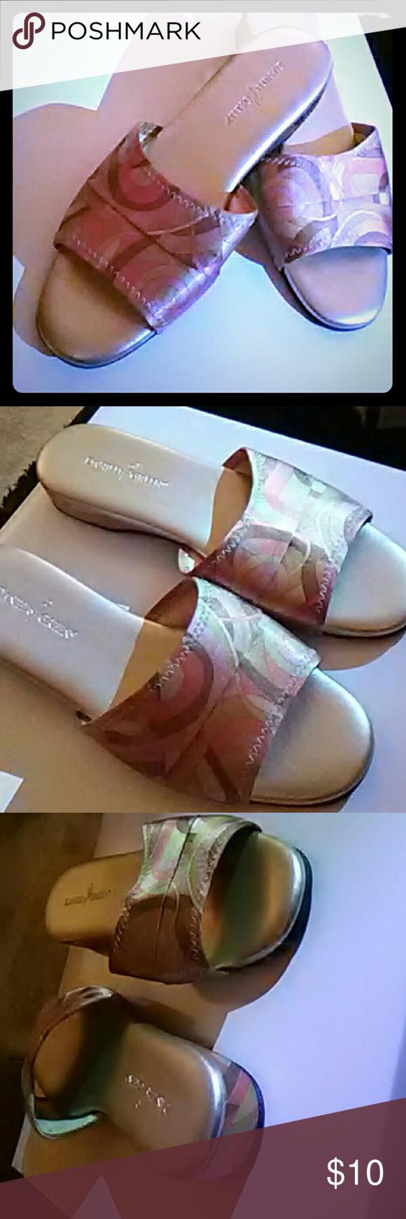 1df894ce15e BRAND NEW DANIEL GREEN SLIPPERS!! Multicolored satin finish slippers ...