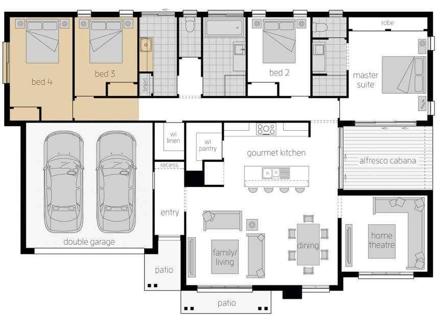 Cambridge Corner Block House Design Mcdonald Jones Homes Arquitectura La Casa De Mis Suenos Casas