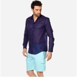 Photo of Pap Unisexe Adulte – Camicia unisex tinta unita in velo di cotone – Camicia – Caracal – Blu – Xl – Vilebrequ