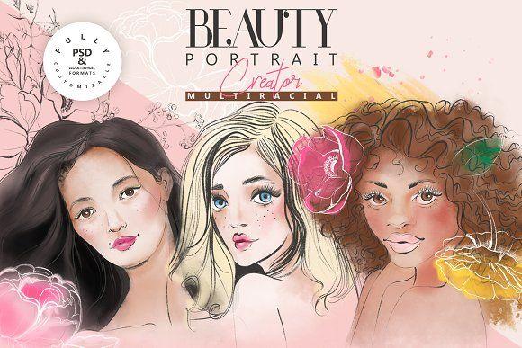 Beauty Portrait Creator by Principesca on @creativemarket ...