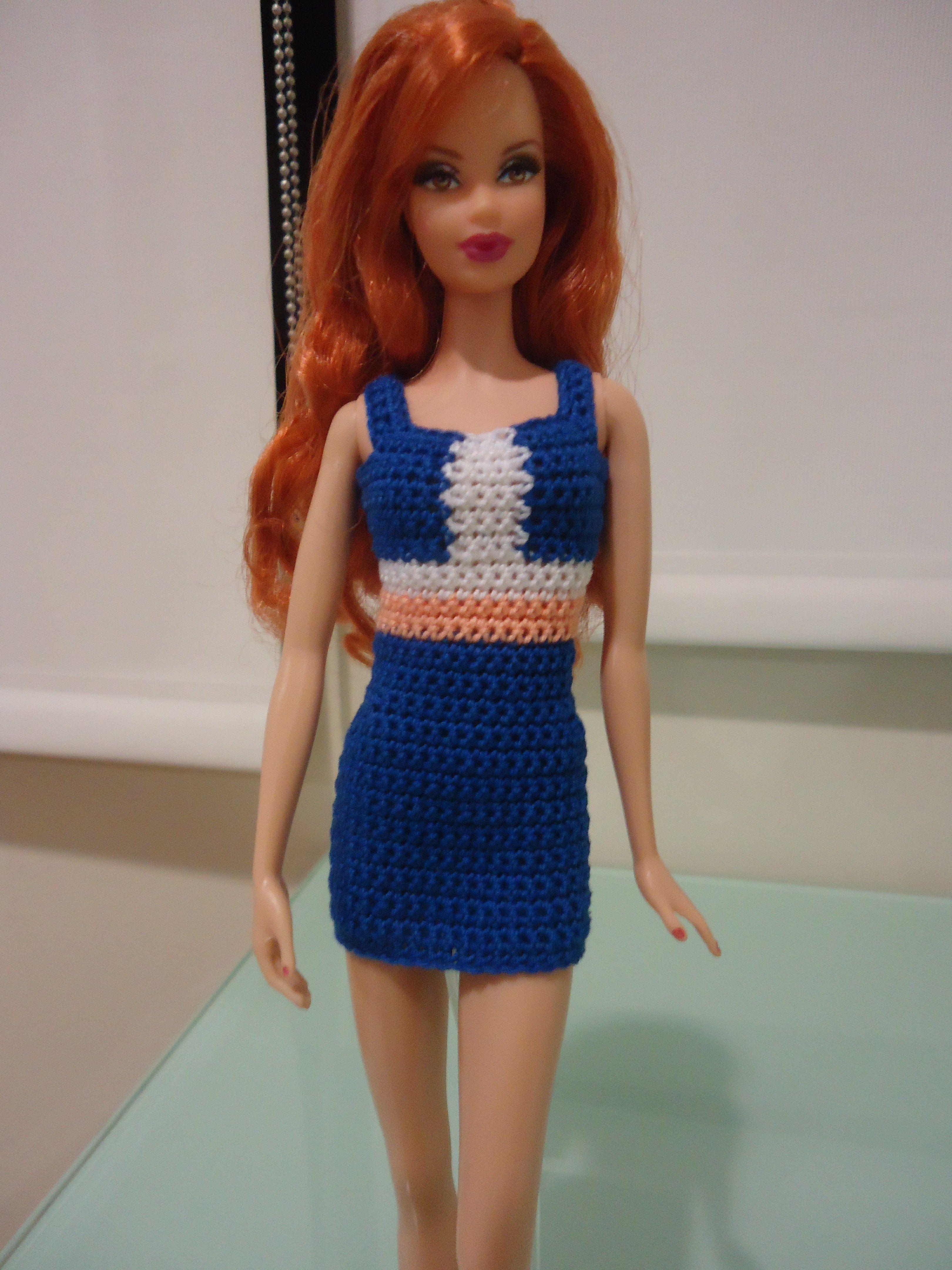 Barbie Colorblocked Panel Sheath Dress (Free Crochet Pattern ...