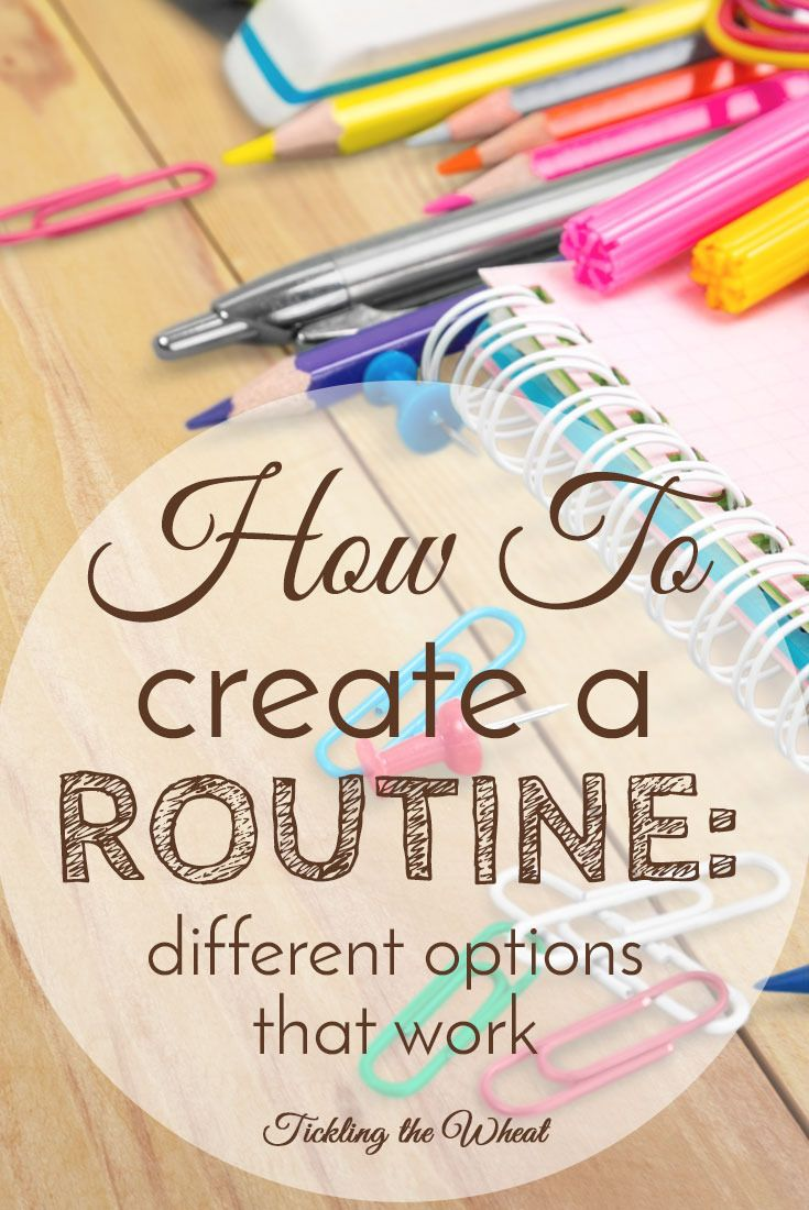 how to create a routine what programs work and what don t