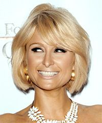 Virtual Hairstyles Classy Paris Hilton Medium Straight Formal Bob Hairstyle With Side Swept