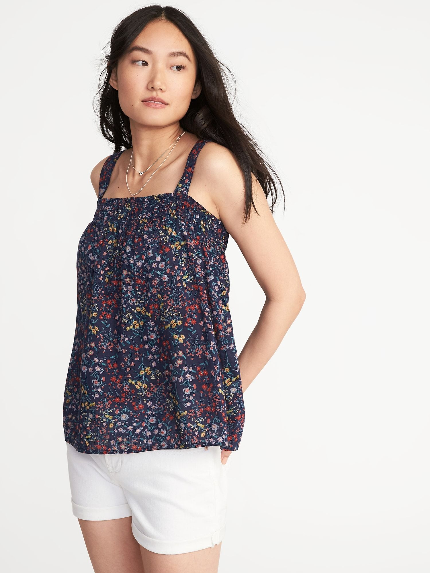 d71f06a966e0 Smocked Floral Swing Top for Women |old-navy | Sewing | Tops, Floral ...