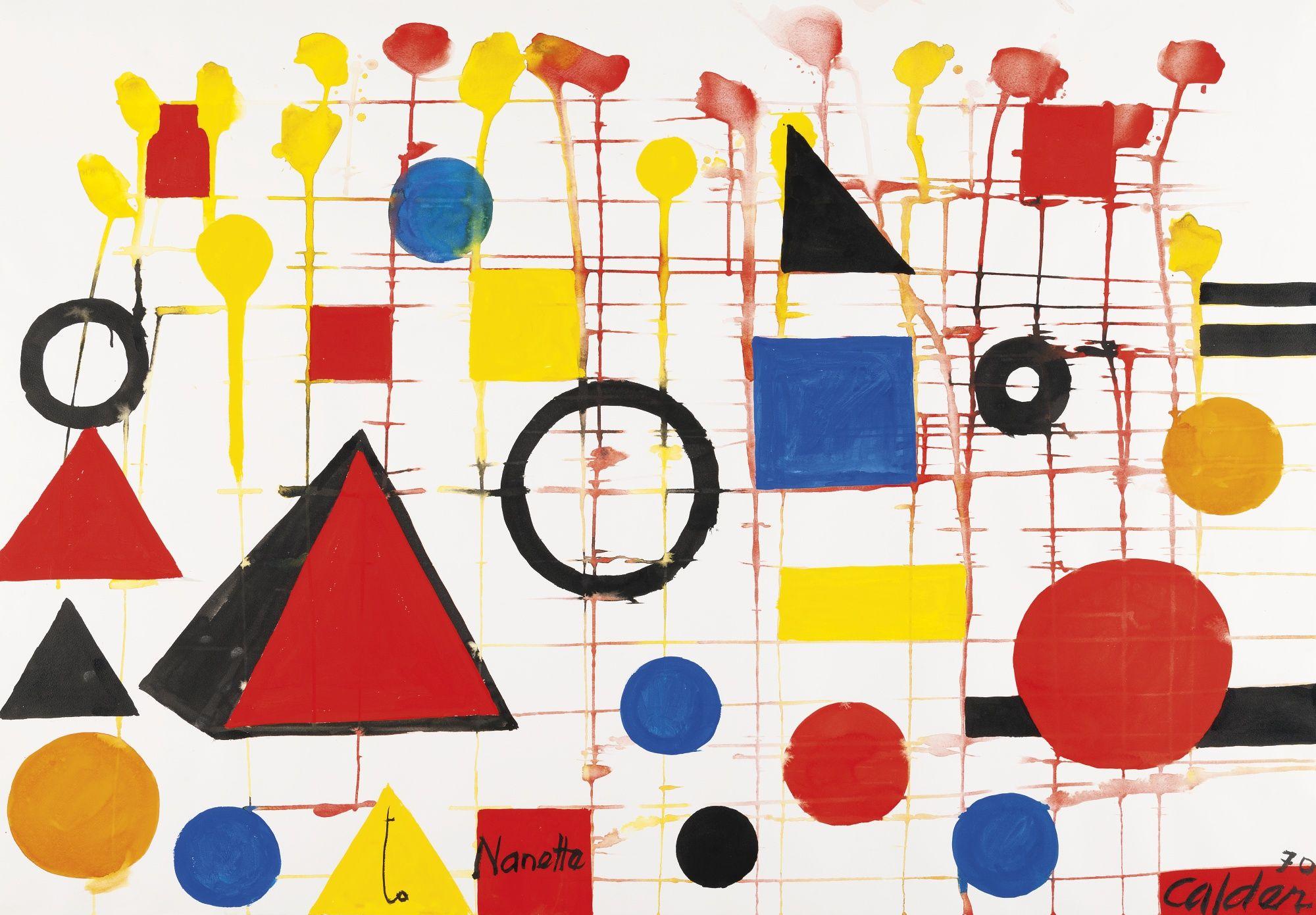 Alexander Calder 1898 1976 Untitled Signed Dated 70 And