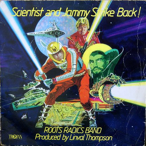 Scientist And Jammy Strike Back Roots Radics Band Via 42 Reggae Album Cover Designs The Art Culture Album Cover Art Album Cover Design Album Covers