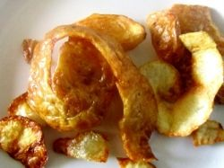 Fried Potato Peelings with a story!