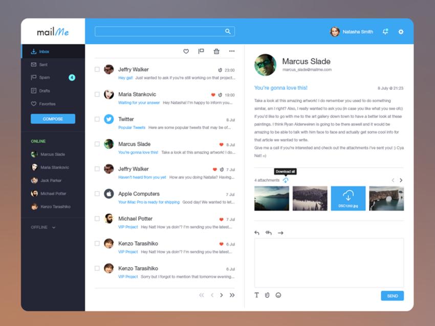 Email client template Email client, Templates, Chat app