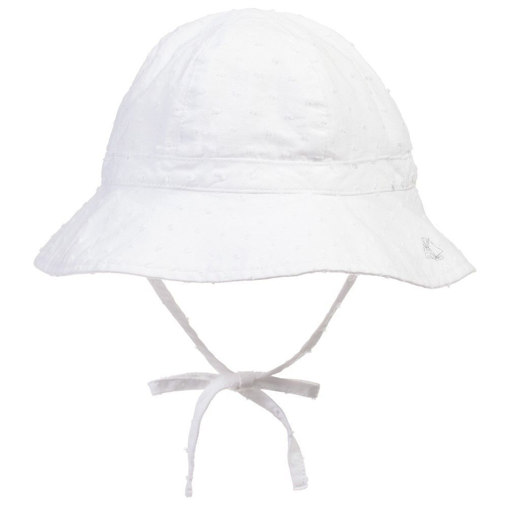 00250fd45 Petit Bateau Baby Girls White Sun Hat   Like It, Love It, Gotta Have ...
