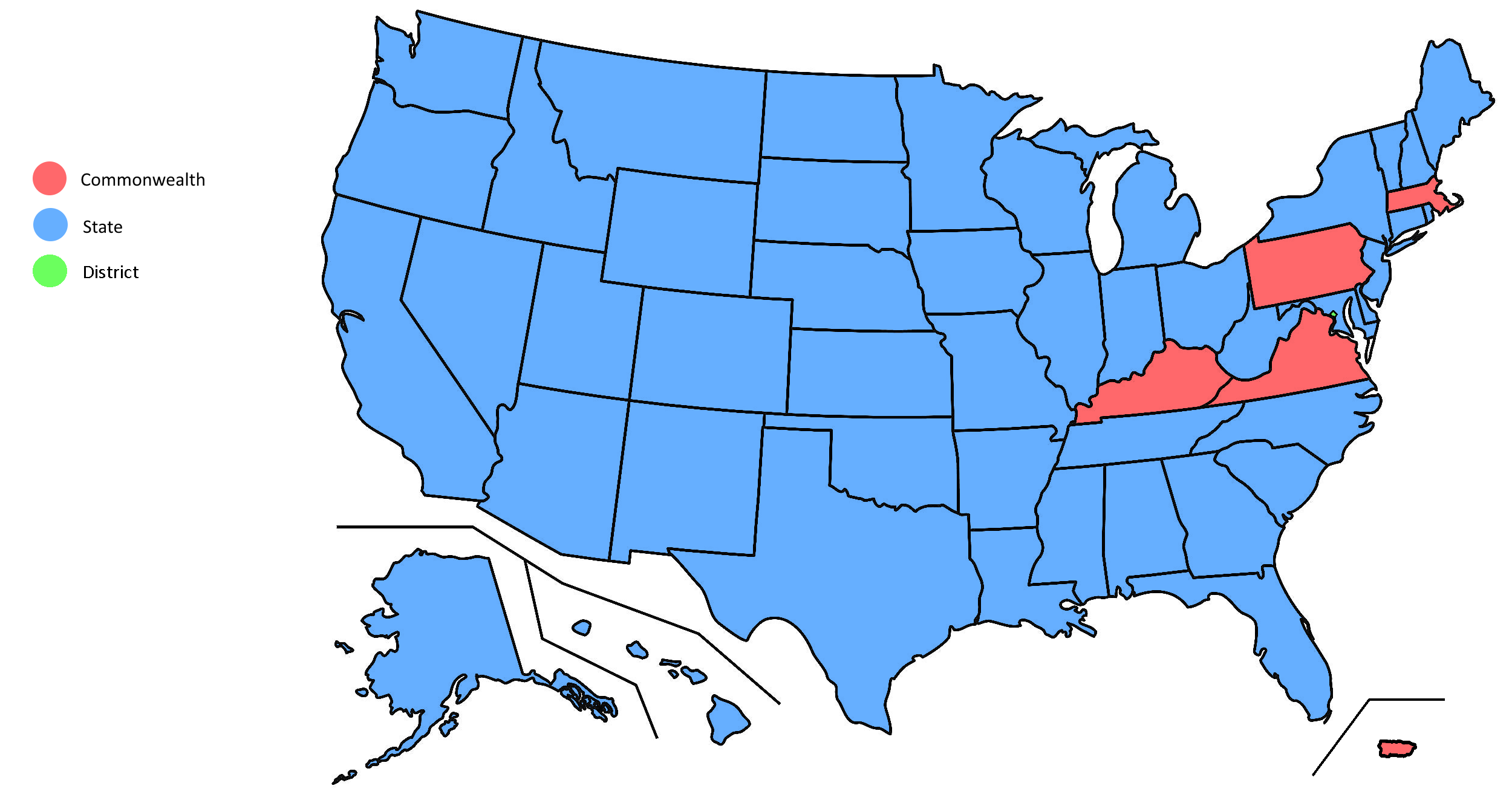 Formal titles for the US states, DC, and Puerto Rico | MAPS