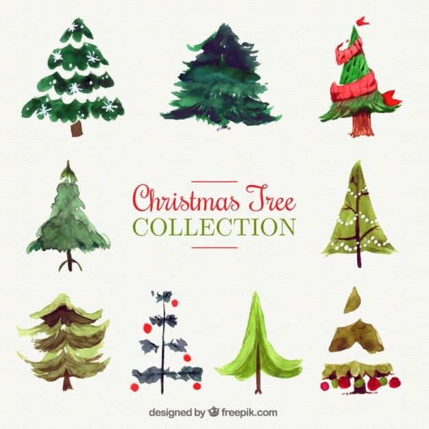 Download Collection Of Watercolor Christmas Trees For Free Christmas Tree Collection Watercolor Christmas Tree Christmas Watercolor
