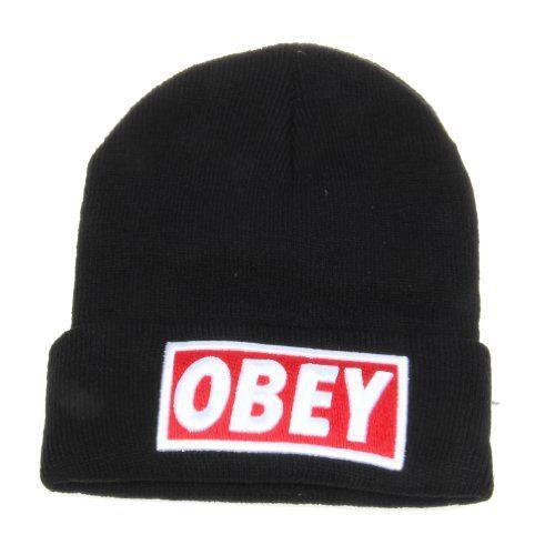 5bfadaf4c Black Obey Standard Issue Beanie Cuff Hat Sunriseo Hat | Bijou ...