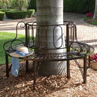 Roundabout Architectural Steel Garden Bench Tree Bench Diy
